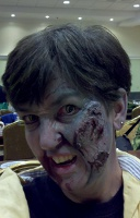 snarling zombie