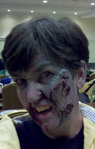 large snarling zombie